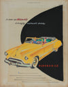 Original Vintage Oldsmobile Advertising Drawing <br>1950-60s Mixed Media <br><br>#A9022