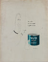 <i>M.J.B. Coffee</i> <br>Original Advertising Illustration <br>1950-60s Gouache, Charcoal & Pastel <br><br>#A9025