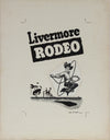 <i>Livermore RODEO</i> <br>1950-60s Ink & Gouache with Scratching Method <br><br>#A9027