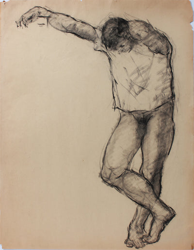 <i>Artist Students League</i> <br>1947 Charcoal <br><br>#A9126