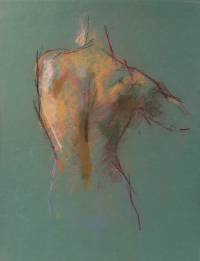 Abstracted Nude Figure <br>1940s Pastel <br><br>#A9131