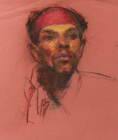 1940s Pastel on Paper Study for a Portrait <br><br>#A9136