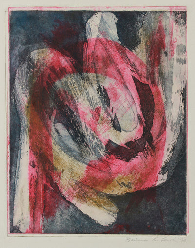 <i>Blue Over Red</i> <br>1970 Mixed Media Print <br><br>#A9157