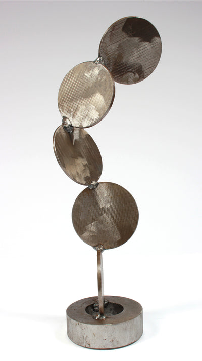 <i>Four Disks</i> <br>Welded Steel Sculpture <br><br>#A9182