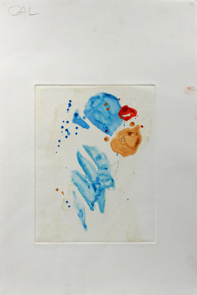 <i>Blue Blots</i> <br>1990-2000s Monotype <br><br>#A9229