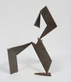 Late 20th Century Abstracted Geometric Welded Steel Sculpture <br><br>#A9275