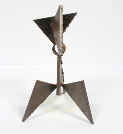 Late 20th Century Abstracted Geometric Welded Steel Sculpture <br><br>#A9280