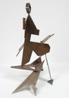 Diamond Head - Geometric Standing Form <br>20th Century Welded Steel <br><br>#A9291