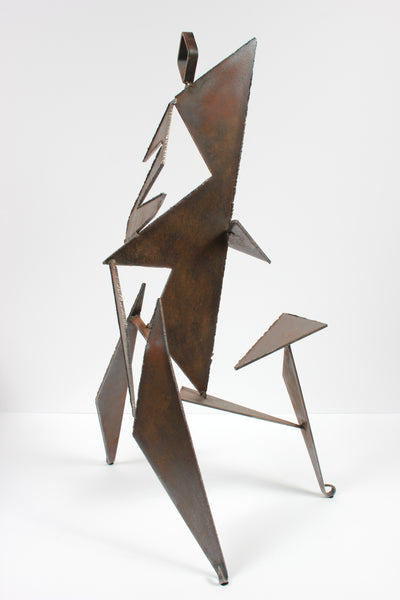 Angular Geometric Standing Form <br>20th Century Welded Steel <br><br>#A9298