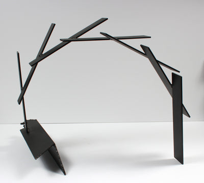 Late 20th Century Multi Media Metal Slanted Arch Sculpture <br><br>#A9329
