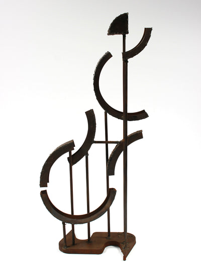 Multimedia Welded Metal Geometric Sculpture <br><br>#A9341