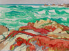 <i>After-Storm Magnificence (Pacific Grove Shoreline)</i> <br>1978 Watercolor <br><br>#A9366