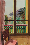 <i>Villefranche, By The Window</i> <br>1965 Watercolor & Graphite <br><br>#A9374