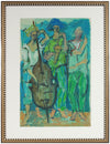 Modernist Jazz Band <br>1970s Oil on Paper <br><br>#A9392