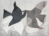 <i>Braques Birds I</i> <br>2019 Mixed Media Monotype <br><br>#A9396