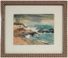 Abstracted Stormy Coastal Scene <br>Mid Century Watercolor & Graphite <br><br>#A9410
