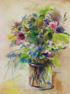 Colorful Floral Still Life <br>1960s Gouache<br><br>#A9453