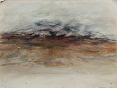 Abstracted New Mexico Landscape Deconstruction <br>1980s Gouache <br><br>#A9459