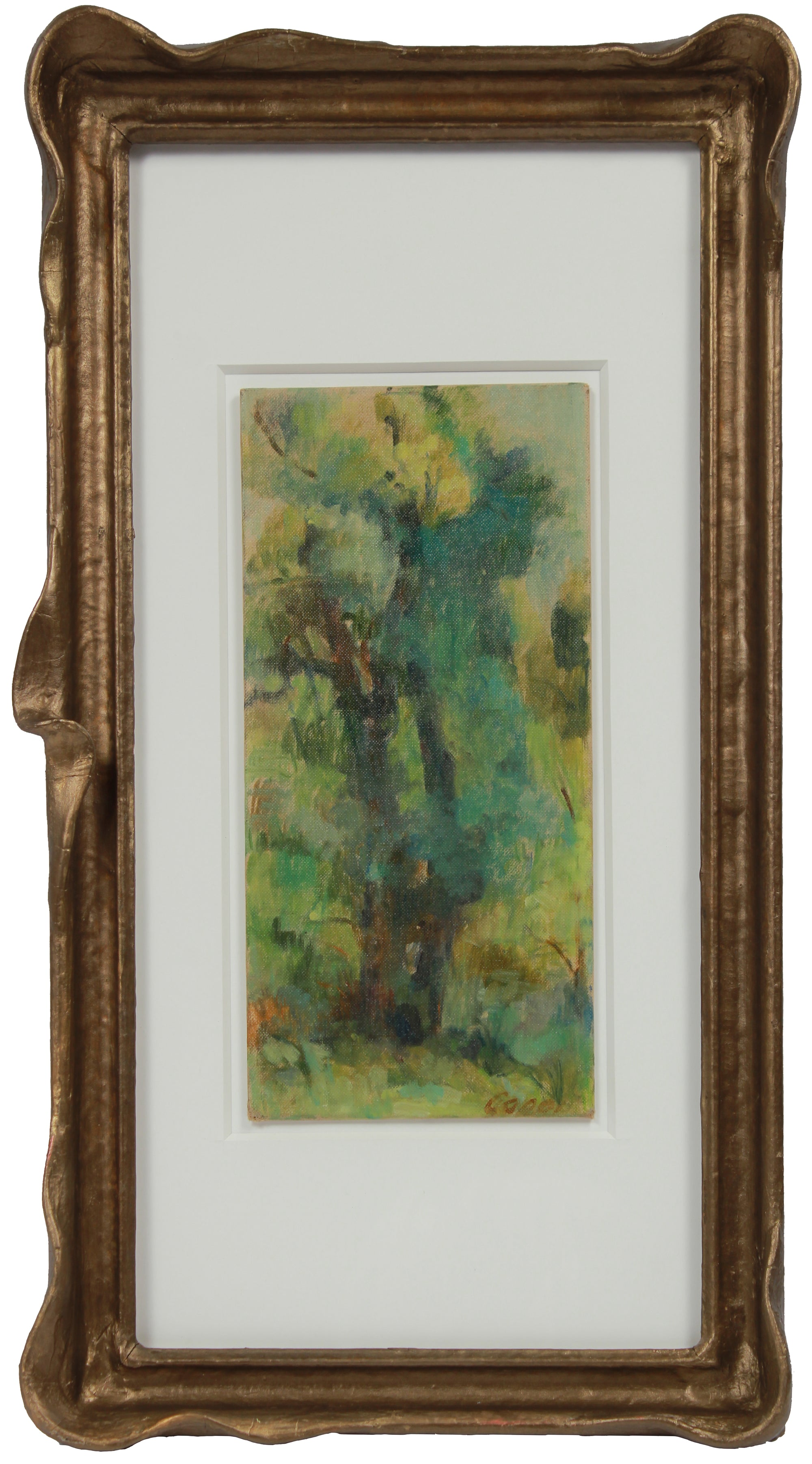 <i>Tree in Memorial Park</i> <br>1965 Oil <br><br>#A9493