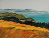 Expressive California Coastal Scene <br>2005 Oil <br><br>#A9503