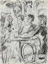 Charcoal San Francisco Cafe Scene <br>July 2, 1985 <br><br>#A9626