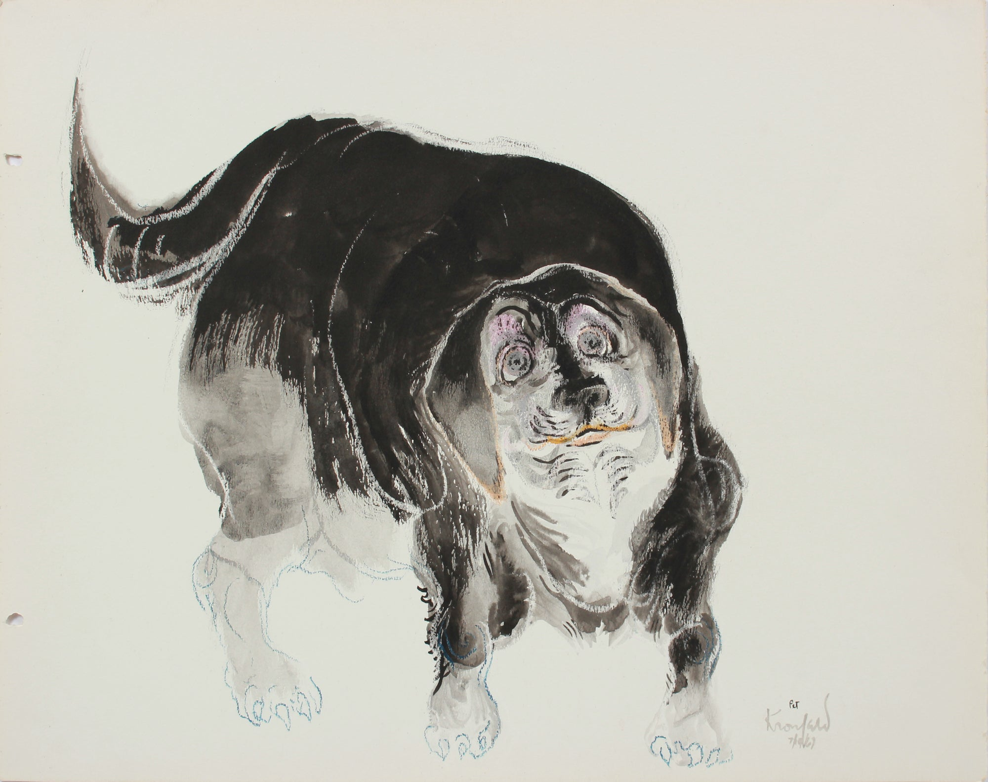<i>Pet</i> <br>1967 Gouache and Pastel <br><br>#A9666
