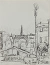 Monochromatic San Francisco Sketch <br>1984 Charcoal <br><br>#A9694