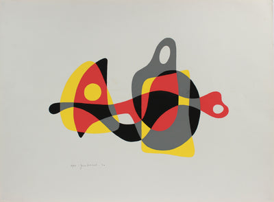 Modernist Organic Abstract Forms <br>1970 Serigraph <br><br>#A9720