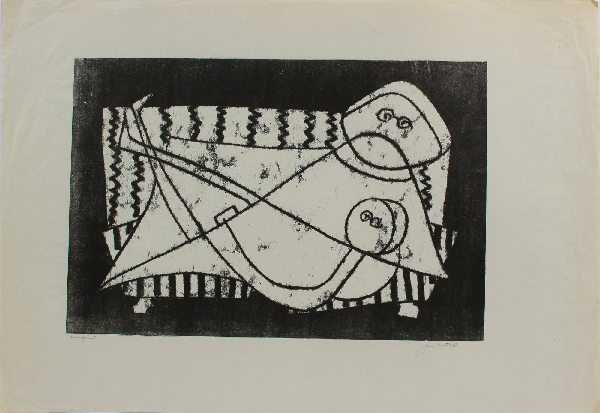 Geometric Figure Abstraction <br>1964 Monotype <br><br>#A9723