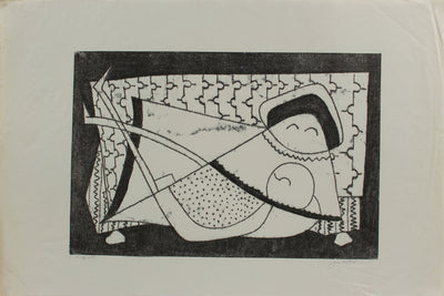 Surreal Geometric Deconstruction <br>1964 Monotype <br><br>#A9726