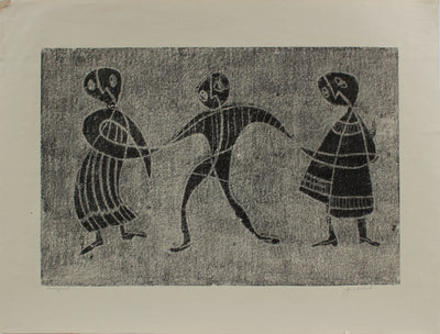 Three Modernist Figures <br>1970-80s Monotype <br><br>#A9730