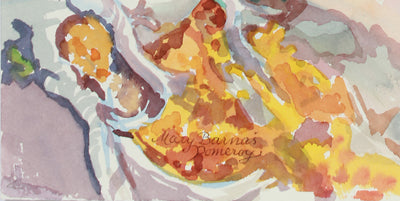 <i>Autumn Silver & Gold</i> <br>1997 Watercolor <br><br>#A9955