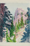 <i>Sequoia National Park</i> <br>20th Century Watercolor <br><br>#A9963