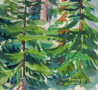 <i>View From Heather Lake Trail</i> <br>1960 Watercolor <br><br>#A9966