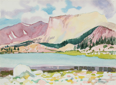 <i>South Fork Lake</i> <br>July 1985 Watercolor <br><br>#A9969
