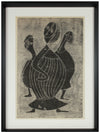 Modernist Figure Trio <br>1964 Monotype <br><br>#A9973