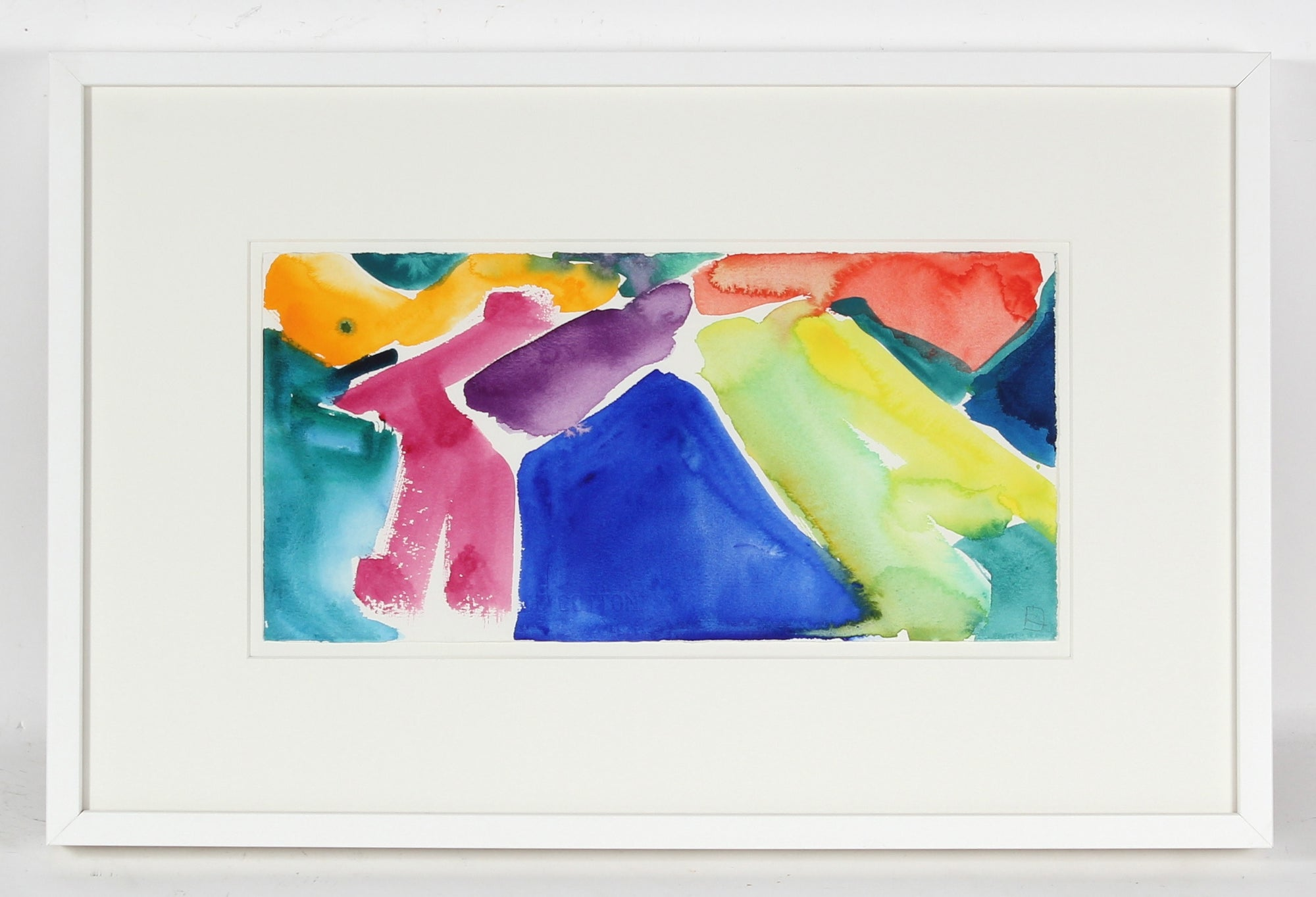 zz- Bright Color Field Abstract <br>1991 Watercolor <br><br>#52505
