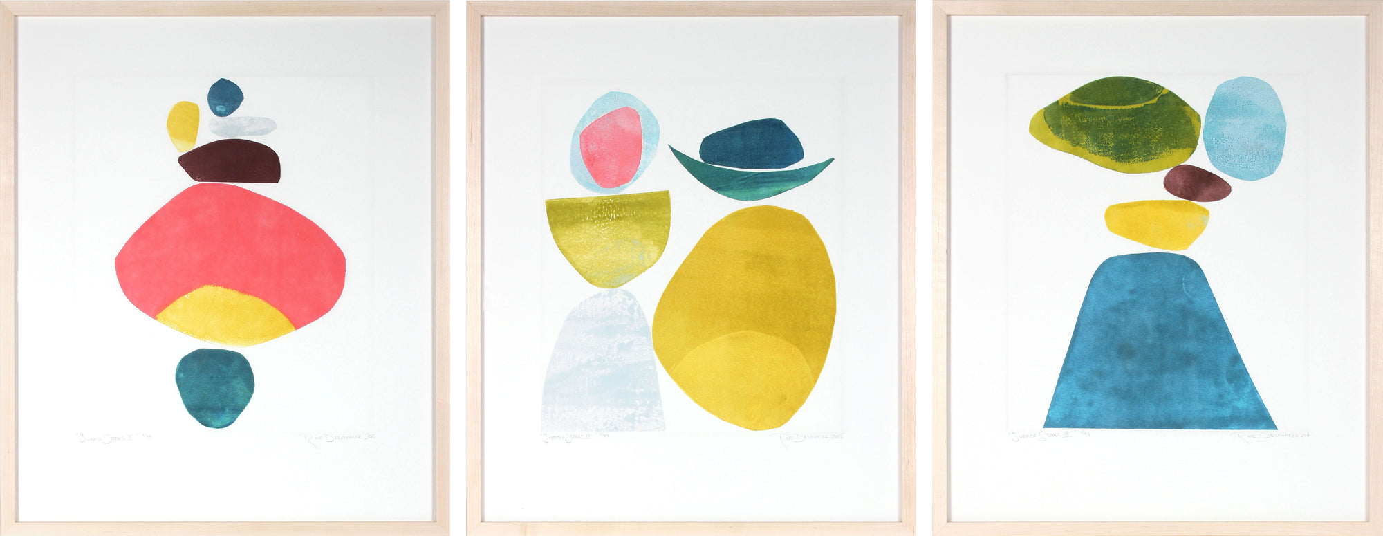 <i>Summer Stones I, II & III</i> <br>Set of Three Limited Edition Archival Prints <br><br>ART-05868