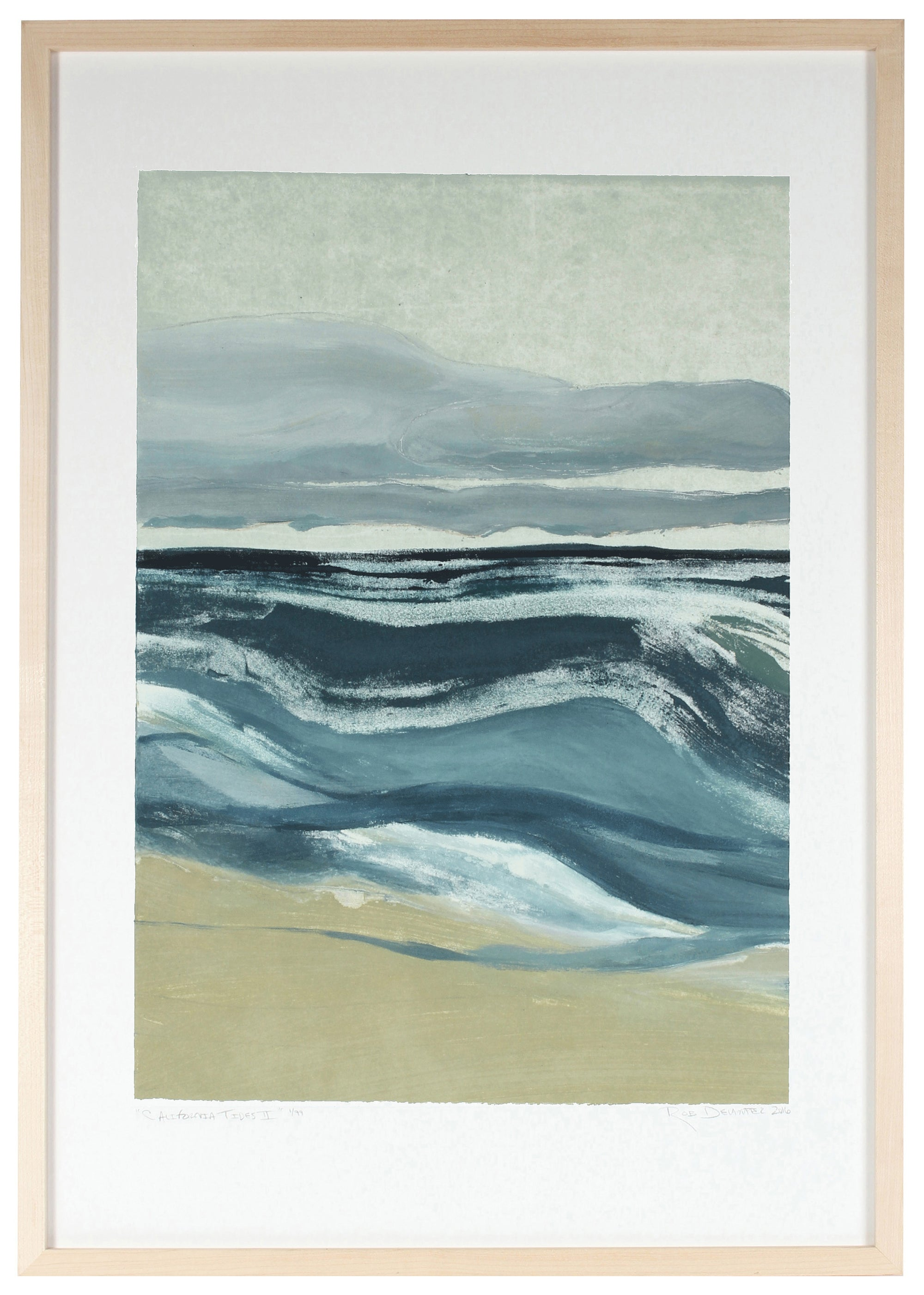 <i>California Tides I</i> <br>Limited Edition Archival Print <br><br>ART-07724