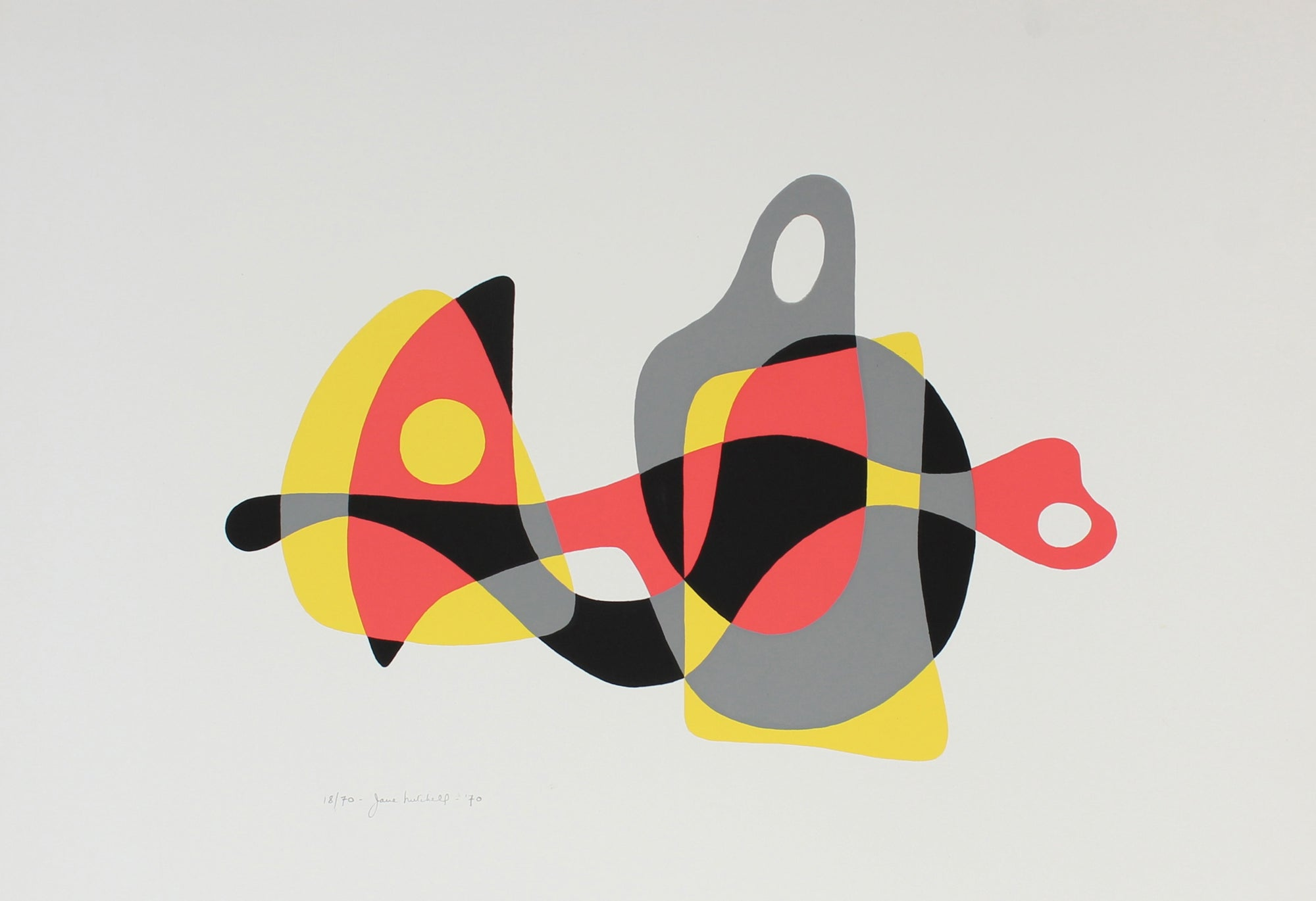 1970 Modernist Abstracted Serigraph<br><br>#86377
