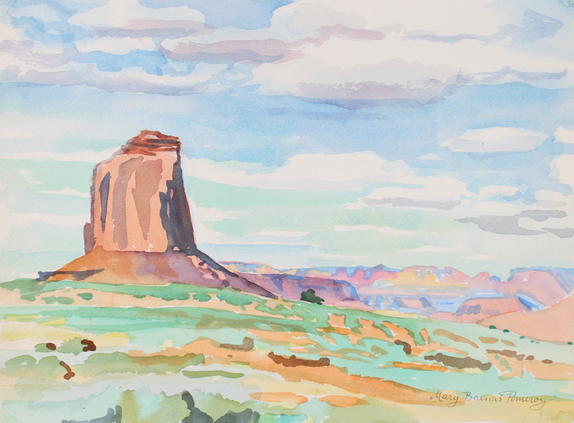 <i>Morning in Monument Valley</i> <br>1992 Watercolor <br><br>#72024