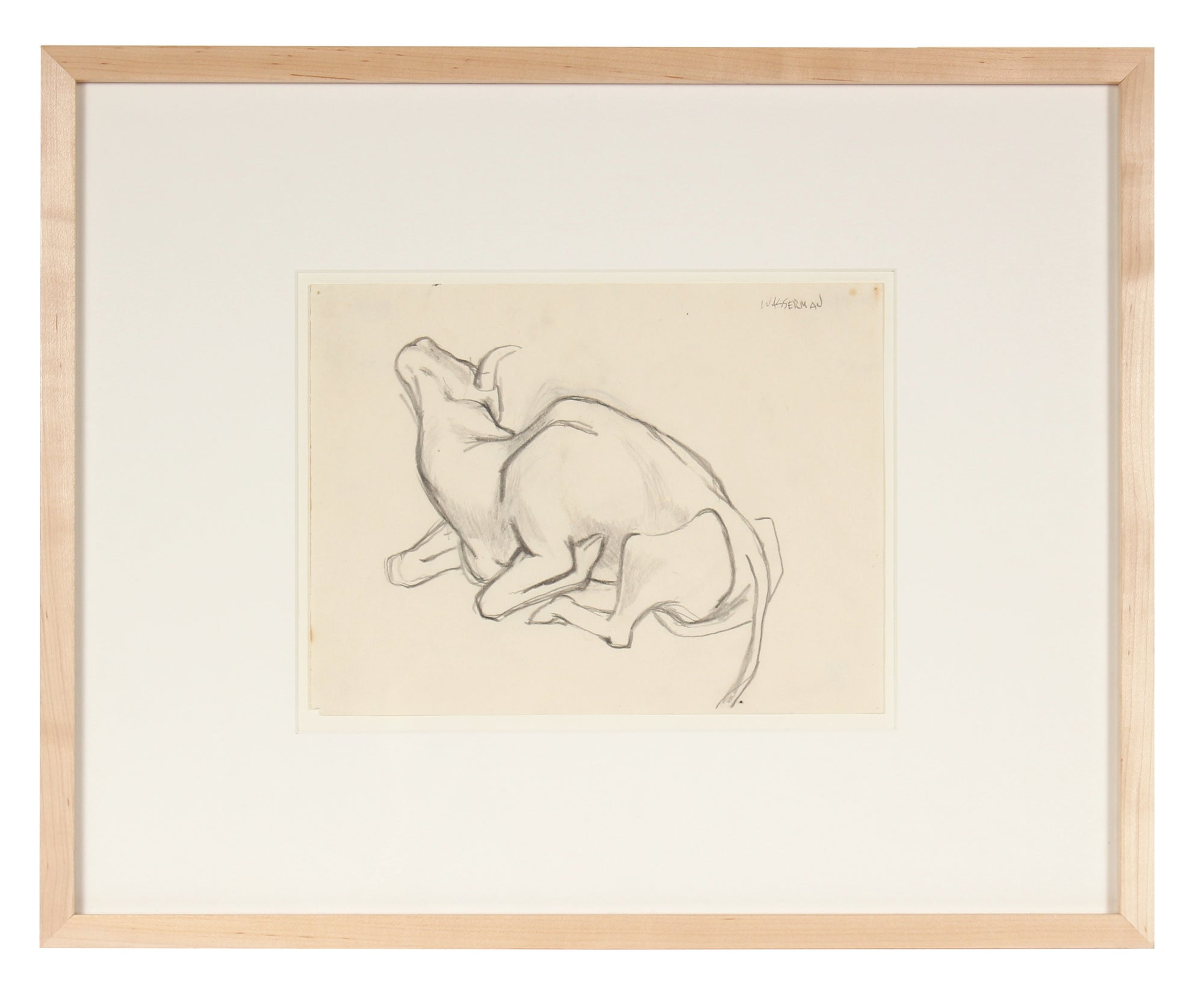 Drawing of a Bull, Mexico<br>1947 Graphite<br><br>#86549