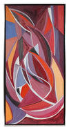 <i>Autumn Leaves</i> <br>1970s Cubist Oil <br><br>#94726