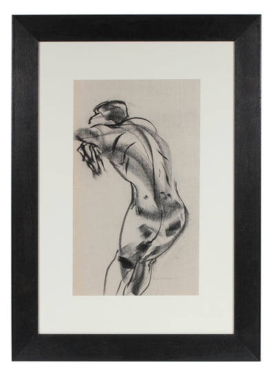 Abstracted Nude Form <br>2010 Charcoal on Newsprint <br><br>#32850