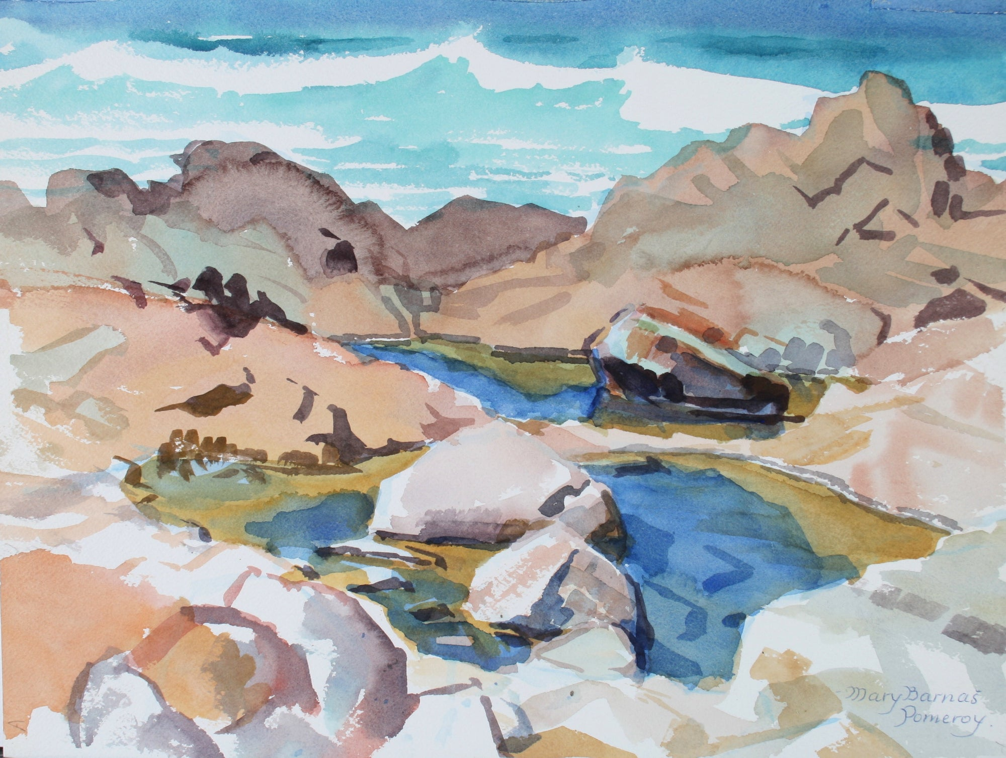 <i>Tidepool - Pacific Grove</i> <br>1987 Watercolor <br><br>#72036