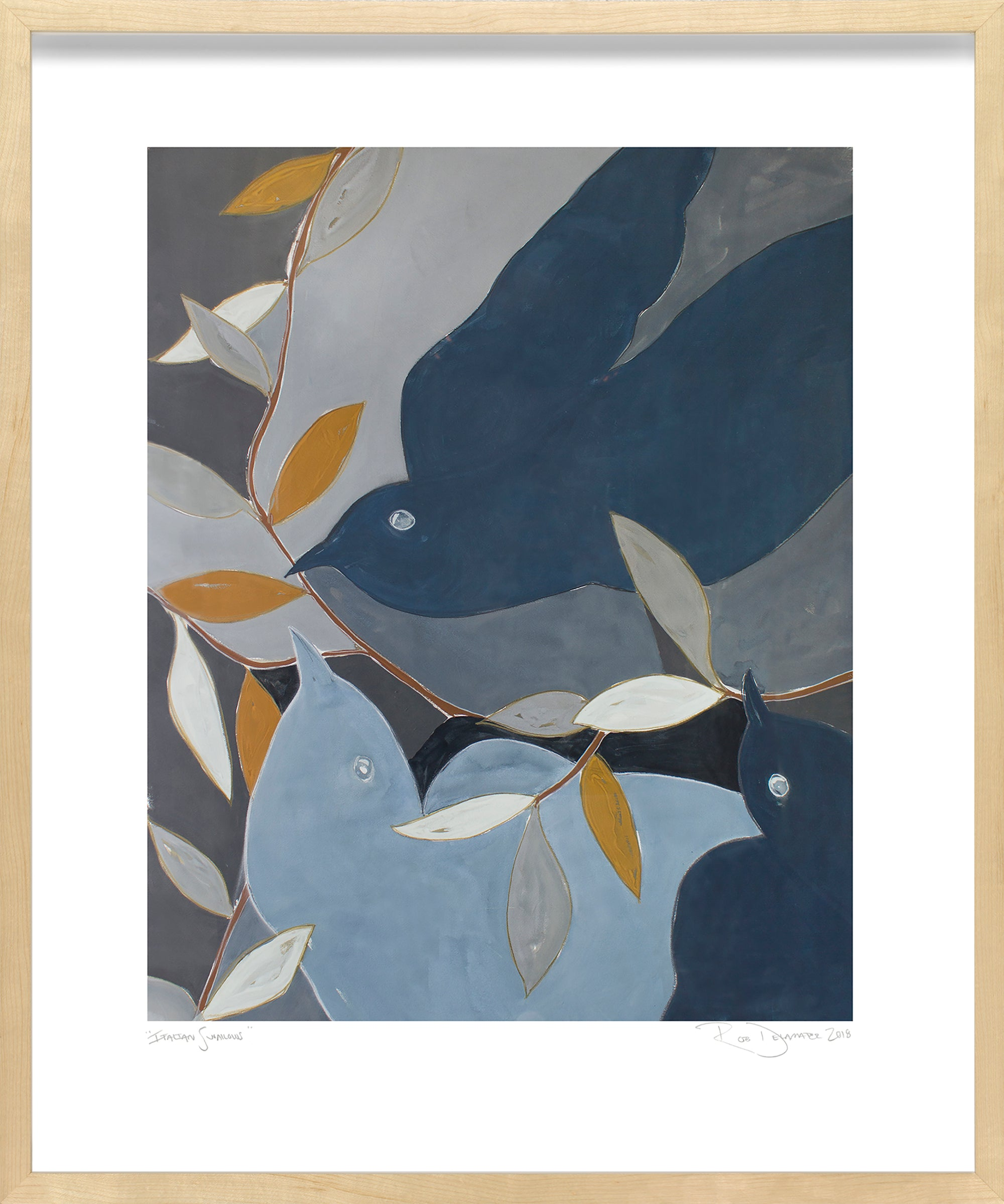 <i>Italian Swallows</i> <br>Limited Edition Archival Print <br><br>ART-13959