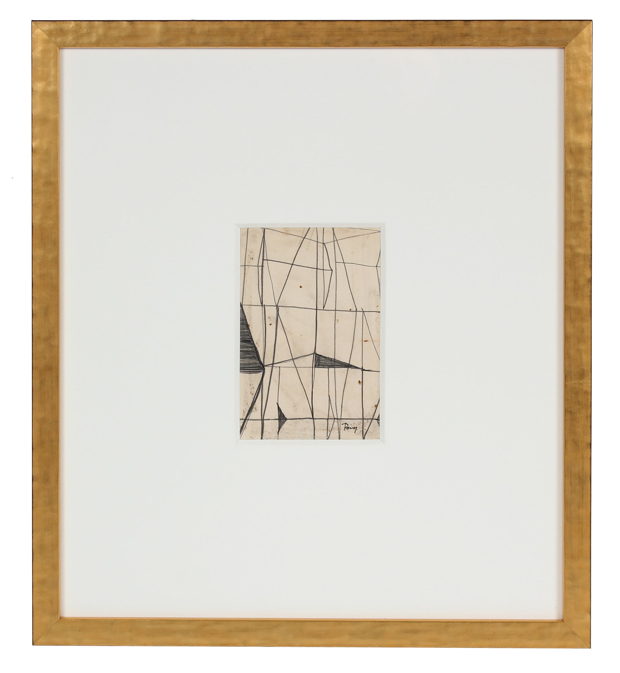 1960s Graphite Linear Abstraction <br><br>#97729