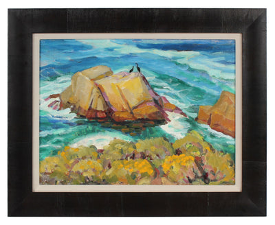 California Rocky Coastline <br>Mid-Late 20th Century Oil <br><br>#94370