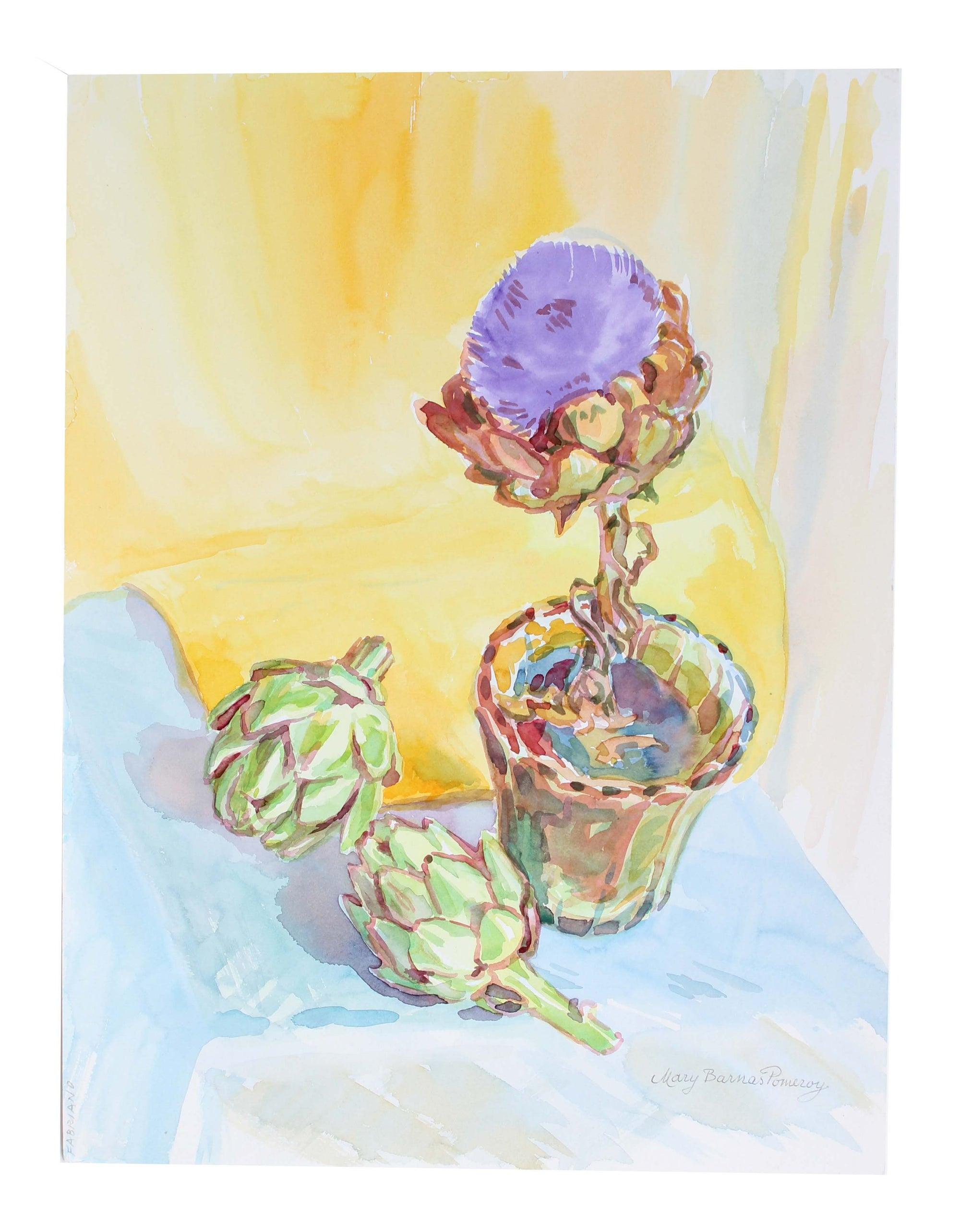 <i>Artichokes</i><br>1997 Watercolor<br><br>#A3594