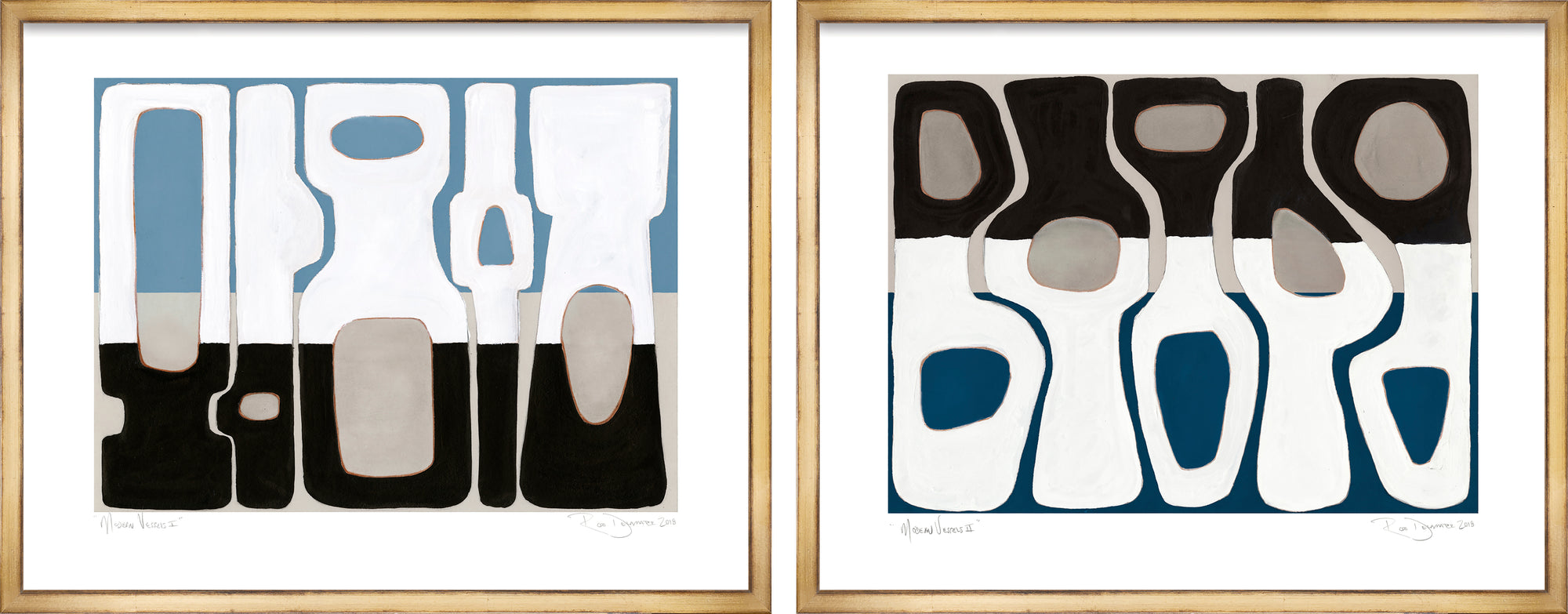 <i>Modern Vessels I & II</i> <br>Set of Two Limited Edition Archival Prints <br><br>ART-14437